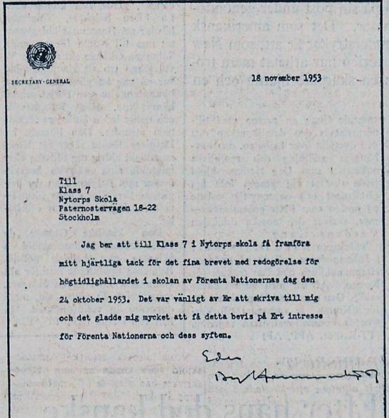 Hammarskjöldsbrev