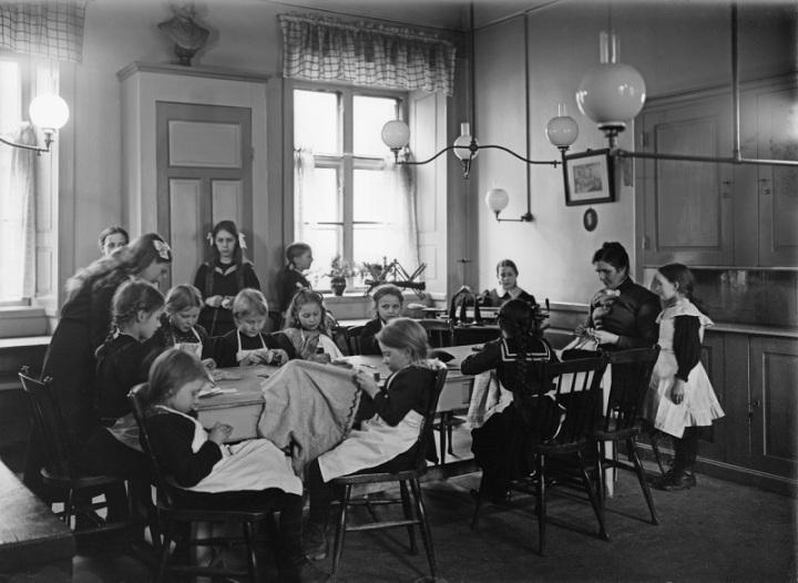 Interiör från Klara arbetsstuga för små barn vid Klara Väst