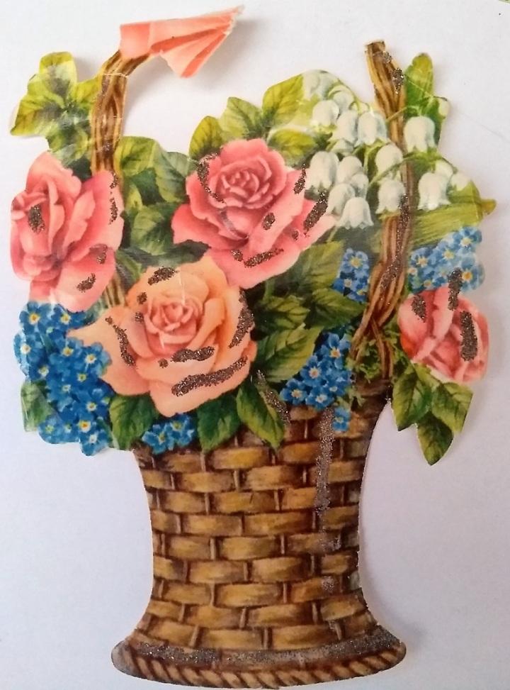 Bokmärke-blomkorg