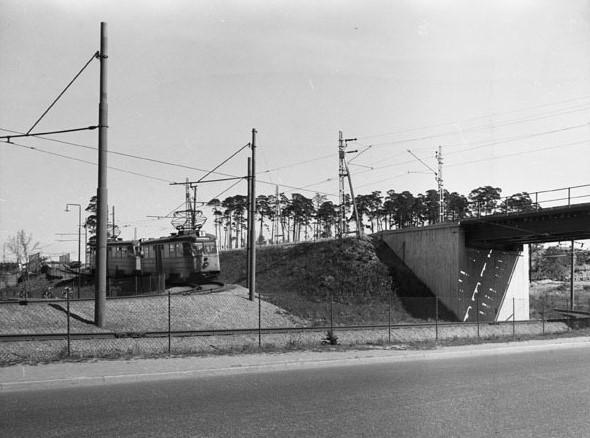 SpårvagnBlåsut-Sofielundsvägen-1950