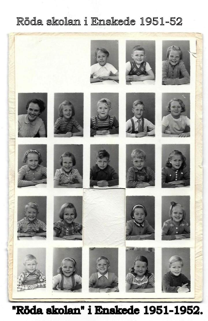 """Röda skolan"" i Enskede 1951-1952."