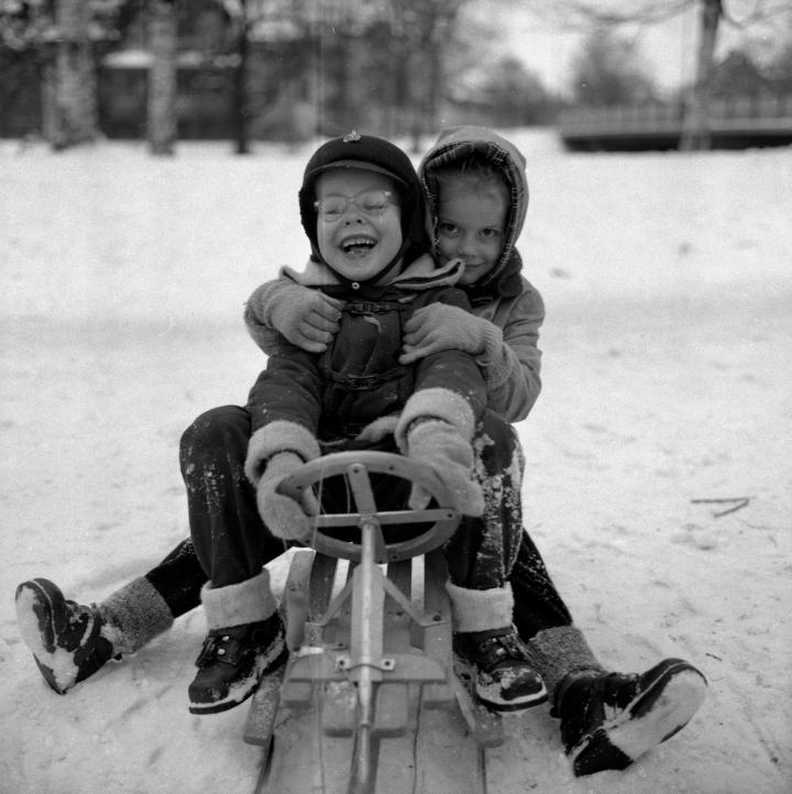 Kälkåkning1955