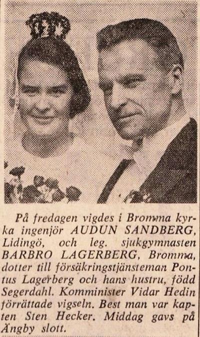 AudunSandberg-vigsel-SvD1968